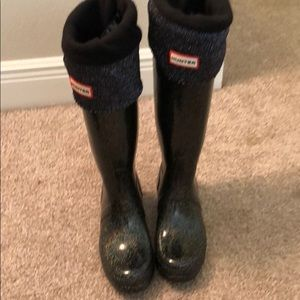 BRAND NEW! hunter boots with hunter insole socks